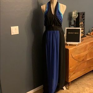 Bisou Bisou Michele bohbot maxi dress cut outs